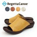 RegettaCanoe -リゲッタカヌー-CJFW-3500 フラットウェッジカバーサンダル