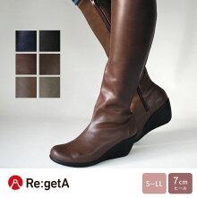 Re:getA-リゲッタ-R-2404,R-2405ストレッチロングブーツ(7cmヒール)