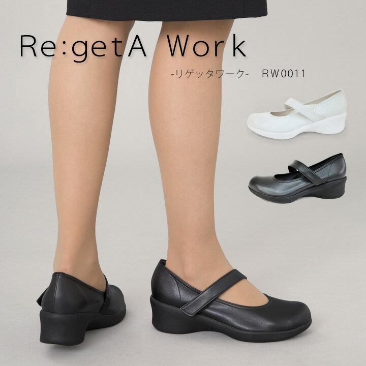 Re:getA Work -リゲッタワーク-RW-0011 ワンベルトミドルヒールパンプス-
