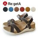 Re:getA -リゲッタ-ECR-003 サンダル レディース 厚底 履きやすい 疲れにくい 痛くない