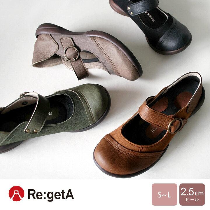 Re:getA-リゲッタ-SCR-0201 切り替えしワンベルトシューズ