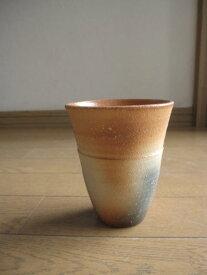 【信楽カップ】 【ギフト】炎フリーカップ信楽焼き