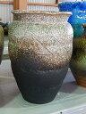 大きい壺信楽焼花瓶花器織部流し壺花入れ