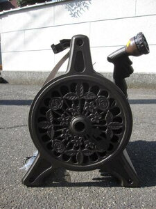 ブロンズ ホースリール 国産   色ブラウン12mmX20m ホース【送料無料】【散水用具】