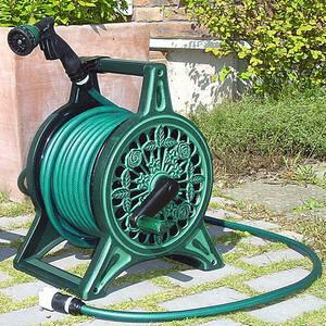 ブロンズ ホースリール 色グリーン  12mmX30mm ホース【送料無料】 【ホースリール】 【散水用具】
