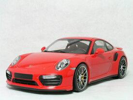 ミニチャンプス 1/18 スケールポルシェ 911 ( 991 ) ターボ S2016年 レッド
