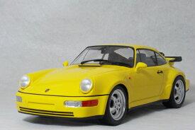 ミニチャンプス 1/18 スケールポルシェ 911 ( 964 ) ターボ1990年 イエロー