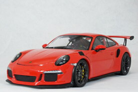 ミニチャンプス 1/18 スケールポルシェ 911 ( 991 ) GT3 RS2015年 ラバオレンジ