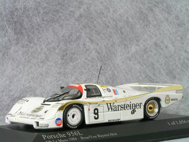ミニチャンプス 1/43 ポルシェ 956L ヴァルシュタイナー 1984年 ルマン 24時間