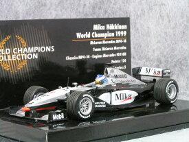 ミニチャンプス 1/43 マクラーレン メルセデス MP4-14 / ミカ・ハッキネン 1999年 ワールド チャンピオン