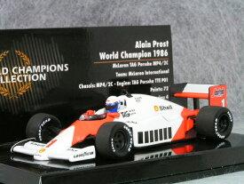 ミニチャンプス 1/43 マクラーレン TAG ポルシェ MP4/2C / アラン・プロスト 1986年 ワールド チャンピオン