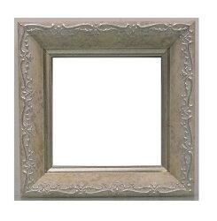 樹脂アンティークおしゃれフレーム8214ホワイト額縁サイズ100mm×100mm窓枠サイズ88mm×88mm2mmアクリル裏板付壁掛け用/箱なし