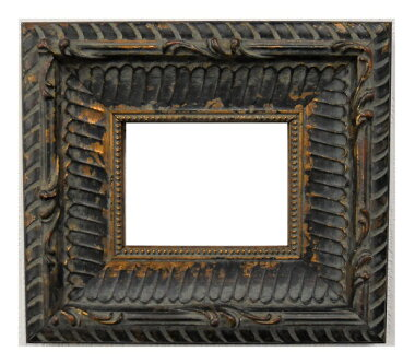 額縁アンティークおしゃれフレーム黒金18-6518額縁寸法100mm×80mm窓枠サイズ82mm×62mm2mmアクリル裏板付壁掛け用卓上スタンドは付いておりません。