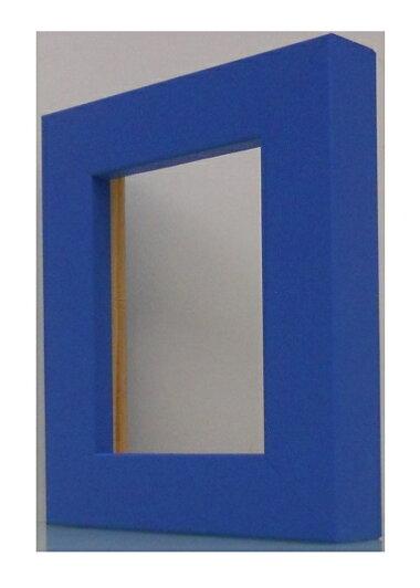 額縁アンティークおしゃれフレーム01-4009水色額縁寸法100mm×80mm窓枠寸法84mm×64mm/2mmアクリル/裏板付/壁掛け用/箱なし/卓上用スタンドは、付いておりません