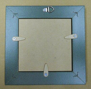 額縁樹脂おしゃれアンティークフレーム正方形8210ホワイト額縁サイズ100mm×100mm窓枠サイズ90mm×90mm2mmアクリル裏板付壁掛け用/箱なし