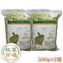 牧草市場 アルファルファプレミアム(牧草)1kg(500g×2パック)