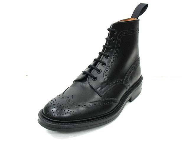 正規品 トリッカーズ カントリーブーツ ブーツ Tricker's MALTON モルトン M2508 ブラック ダイナイトソール fitting5 ウィングチップブーツ 送料無料【あす楽対応】