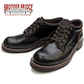 ブラザーブリッジブーツBROTHERBRIDGEBIDASSOAプレーントゥミッドカットブーツ(BLACK)BBB-A003-#700ワークブーツメンズ本革men'sboots送料無料【Recommend】