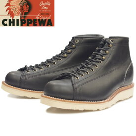 【SALE:50%OFF】 チペワ ブーツ CHIPPEWA 1901M34 5-inch Bridgeman [Black] ラインマンブーツ メンズ モンキーブーツ 本革 ブリッジマン ワークブーツ アメリカ製 正規品 保証書付 送料無料 【あす楽対応】
