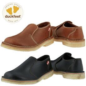ダックフィート duckfeet DN1600 ダンスク DANSKE プレーントゥシューズ メンズ レディース カジュアルシューズ 本革 スリッポン 送料無料
