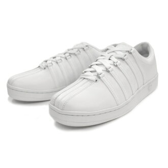 瑞士經典的 K-瑞士運動鞋男裝白色 KSWISS K-瑞士經典白色和白色 (02248101) 運動鞋低胸男裝經典運動鞋 _ _