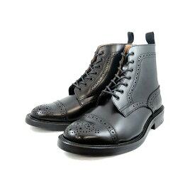 ロッキングシューズ Locking Shoes by FootMonkey フットモンキー キャップトゥ ウィングチップブーツ CAP TOE WINGTIP BOOTS 919 ブラック メンズ 男性用 men's boots ブーツ 送料無料