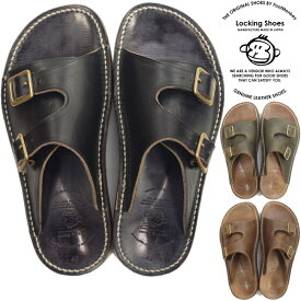 Locking Shoes ロッキングシューズ by FootMonkey フットモンキー SDL-2FT サンダル メンズ レザー レザーサンダル ダブルモンクサンダル 日本製 クロムエクセル 送料無料
