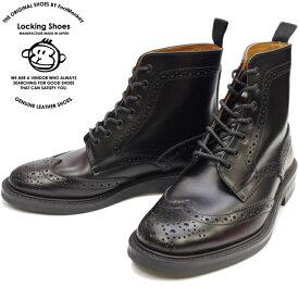 Locking Shoes ロッキングシューズ by FootMonkey フットモンキー カントリーブーツ WINGTIP BOOTS 916 [ブラック] メンズ ウィングチップブーツ 日本製 送料無料