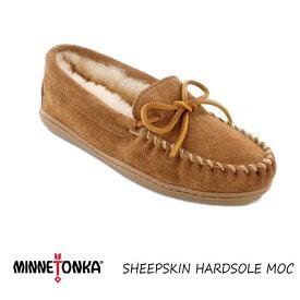 ミネトンカ モカシン 正規品 MINNETONKA SHEEPSKIN HARDSOLE MOC シープスキン レディース スエード シューズ 本革 ボア もこもこ 靴 送料無料