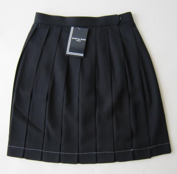 オリーブデオリーブスクール スクールスカート(18本車ひだ・定番紺無地) JE759-88