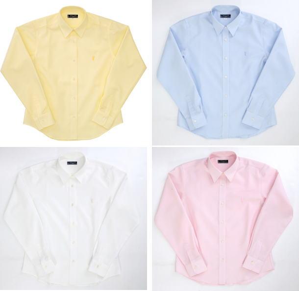 【送料無料】オリーブデオリーブスクール長袖レギュラーカラーシャツ