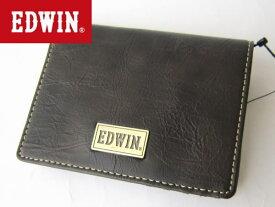 【ネコポス送料無料】EDWIN エドウィン メタルプレート2つ折り財布