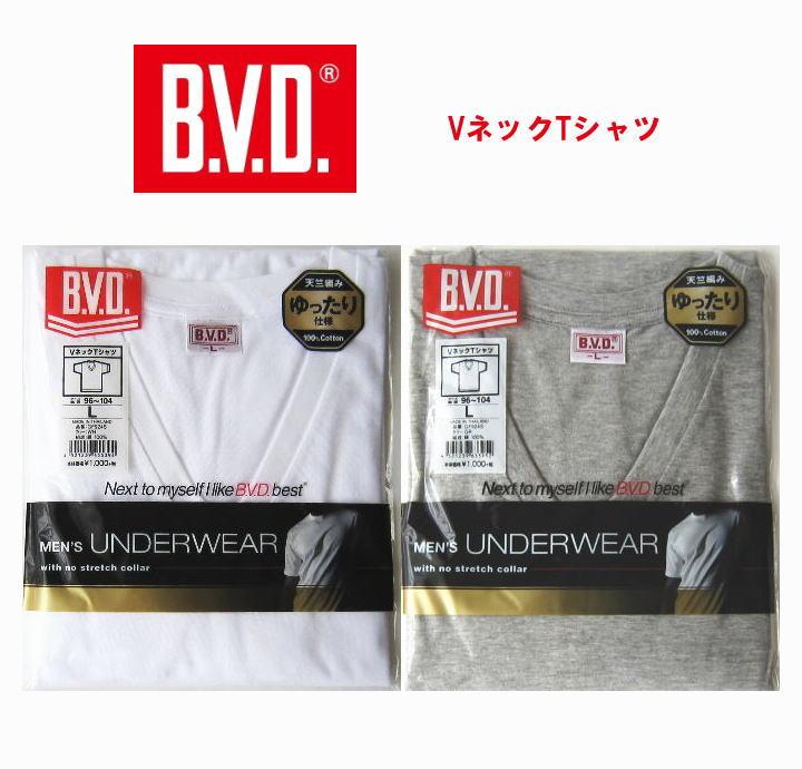 【B.V.D.GOLD】BVD定番 VネックTシャツ