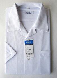 COOL・ノーアイロン・ストレッチ 男子ニット開襟シャツ(半袖) 富士ヨット ラクシャツ スクールシャツ 制服 学生