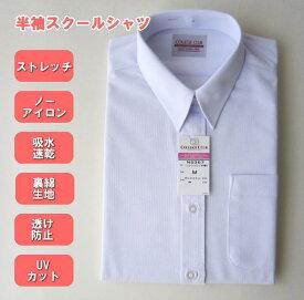 女子スクールシャツ 半袖ニットシャツ 制服/ワイシャツ/レギュラーカラーシャツ/COLLEGE CLUB/カレッジクラブ/女の子/制服/ブラウス