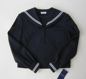 セーラー服上衣 (紺・2本ライン)エル・エコール ELLE ECOLEウール50%/ポリエステル50%