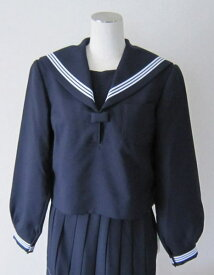 【B体】セーラー服上衣 (紺・衿カフス3本ライン)KANKO カンコーウール50%/ポリエステル50%