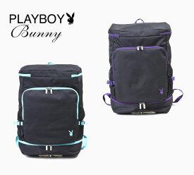 PLAYBOY Bunny スクエアデイパック 底部2層式バックパック リュック スクールバッグ スクールリュック プレイボーイ 通学バッグ 部活 通学鞄 バッグ 学生 高校生 中学生
