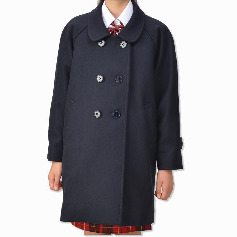 子供ラグランコート(キッズ・ジュニアサイズ)ジュニアスクールコート/通学/制服/ネイビー/男女兼用