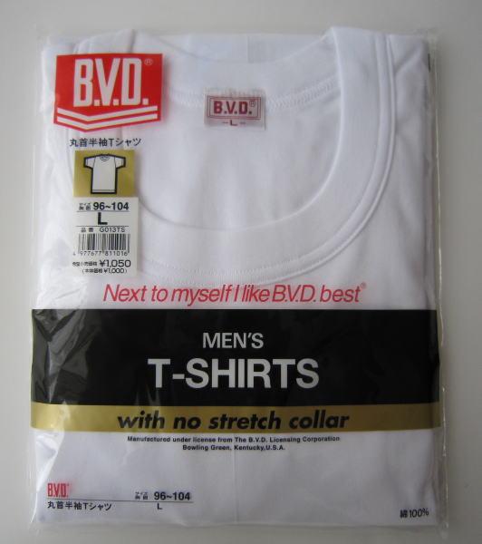 【B.V.D.GOLD】BVD定番 丸首半袖Tシャツ