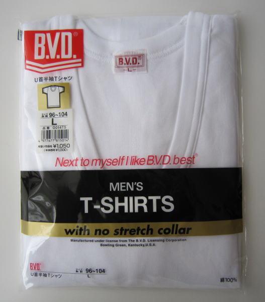 【B.V.D.GOLD】BVD定番 U首半袖Tシャツ