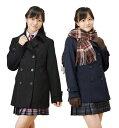スクールコート スリムピーコート ネイビー・グレー・ブラック 学生用コート 女の子らしいリボン風背ベルトでハイウェストを強調♪