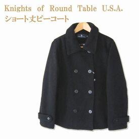 ≪スクールピーコート 女子≫ ショート丈PコートKnights of Round Table U.S.A.♪ スクール/学生/制服/中学生/高校生/通学/KR9922/マフラー付き