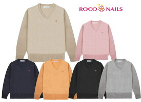 ROCO NAILS ロコネイル スクールセーター ウール混Vネックセーター 女子制服/女子高生/ROCONAILS
