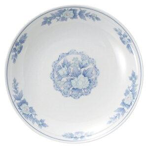 三色牡丹 9.0丸皿 中華食器 丸皿 20cm〜30cm 業務用 日本製 磁器 約28cm 単品メニュー用 大皿 中華皿 プレート 盛皿 エビチリ 酢豚 中国料理