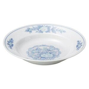 三色牡丹 8吋スープ 中華食器 丸皿 20cm〜30cm 業務用 日本製 磁器 約20.7cm 単品メニュー用 定食用皿 中華皿 プレート 盛皿 エビチリ 酢豚 中国料理