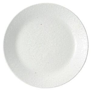白粉引 7.0皿 中華食器 丸皿 20cm〜30cm 業務用 日本製 磁器 約21.6cm 単品メニュー用 定食用皿 中華皿 プレート 盛皿 エビチリ 酢豚 中国料理
