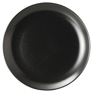 宮天目 8.5吋メタ皿 中華食器 丸皿 20cm〜30cm 業務用 日本製 磁器 約21.2cm 黒 中華皿 プレート 盛皿 エビチリ 酢豚 中国料理 焼肉店 肉皿