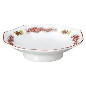 鼓舞龍 八角皿 中華食器 八角皿 業務用 日本製 磁器 約19.2cm チャーハン シュウマイ シューマイ 中華皿 プレート 伝統的 昔懐かし