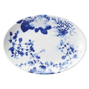 フローラル 10吋プラター 中華食器 プラター 楕円皿 20cm〜30cm 業務用 日本製 磁器 約26.3cm 大き目 中華皿 餃子皿 ギョーザ皿 餃子用 楕円プレート 小判皿 大皿 おしゃれ